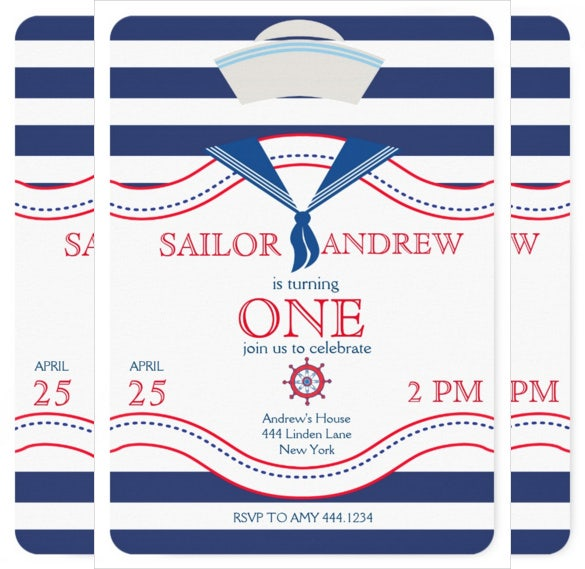 sailor themed first birthday party