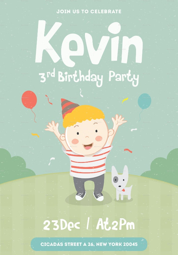 birthday party celebration invitation for children