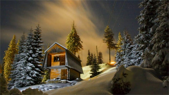 winter evening template background for windows
