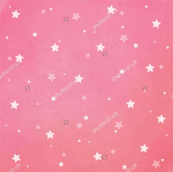 White Stars on Pink Watercolor Background Download