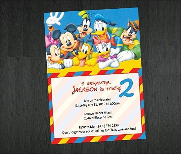 20+ Mickey Mouse Birthday Invitation Templates – Free Sample