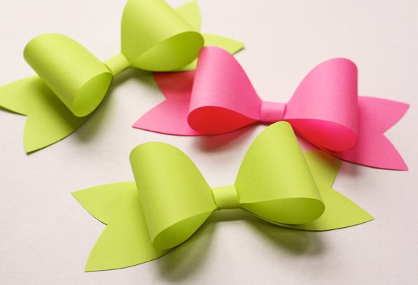 sample paper bow template