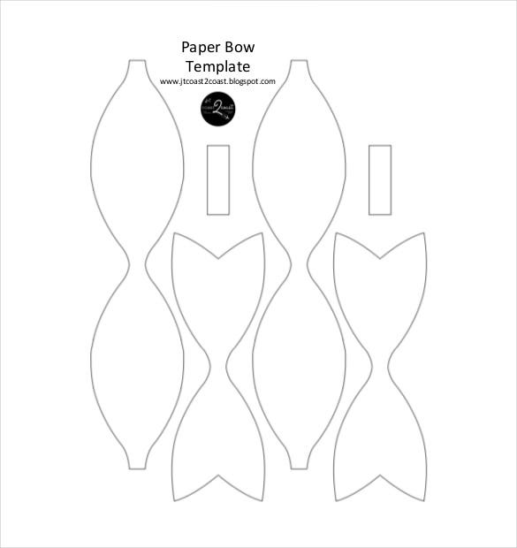 Paper Bow Templates  Free Sample Example Format Download