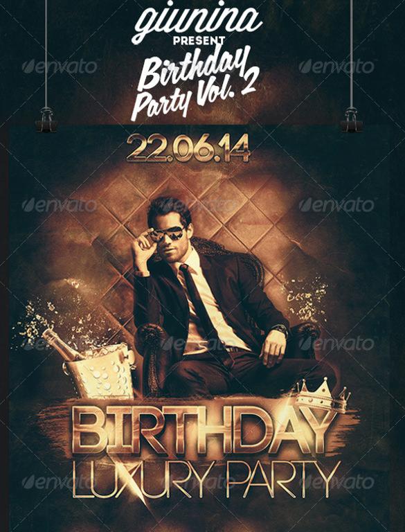 photo birthday party invitation flyer