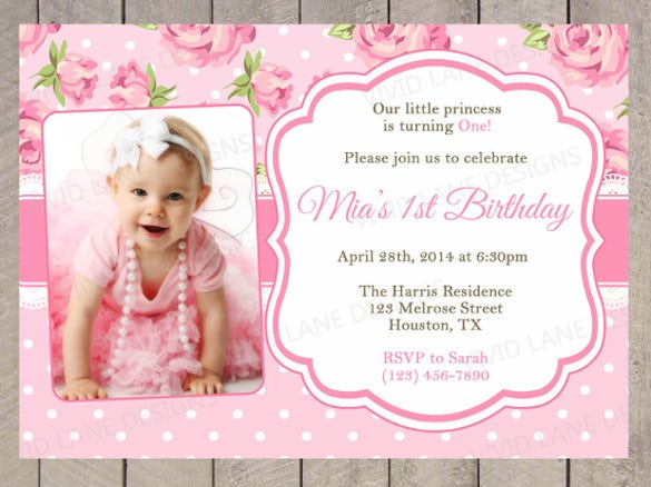 First Birthday Invitation Free Template Orderecigsjuiceinfo - Birthday invite free template