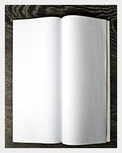 Open-magazine-with-blank-pages