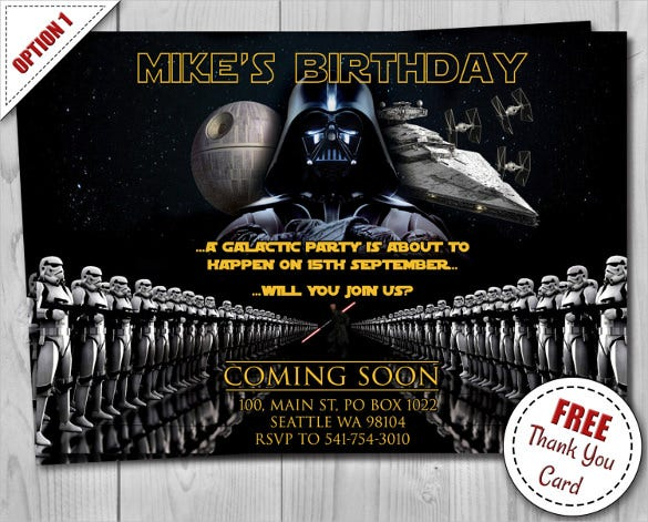 20  star wars birthday invitation templates  u2013 free sample
