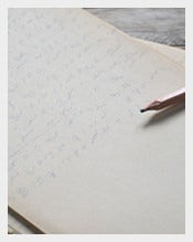 Old-Writing-Papers-with-Pencil-Template