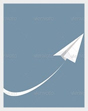 Vector-Illustration-of-White-Paper-Airplane-–-$4