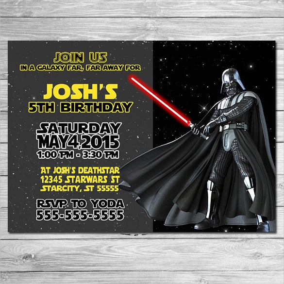 20+ Star Wars Birthday Invitation Templates – Free Sample, Example ...