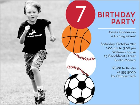 having a ball birthday celebration invitation