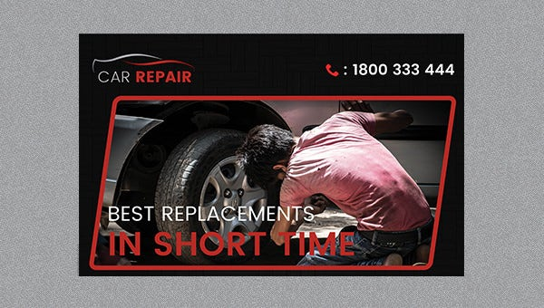 carrepair_poster template