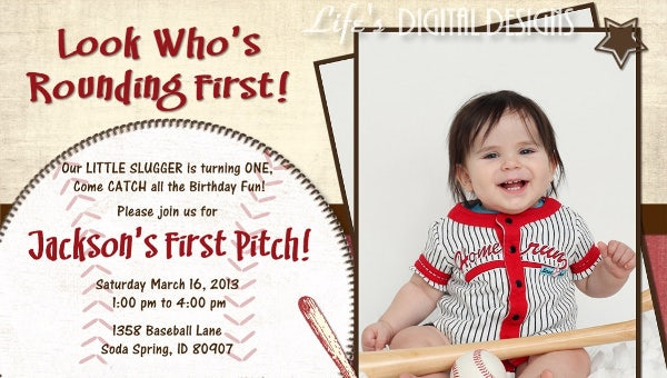 The Theme Also Makes Guests Jovial When They Get Invitation Card In Hand Baseball Birthday Invitations Its Always