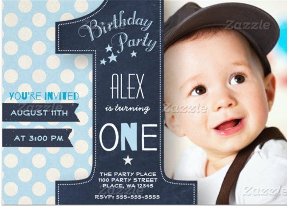 Kids Birthday Invitation Templates Free PSD Vector EPS AI - Birthday invitations for baby boy 1st