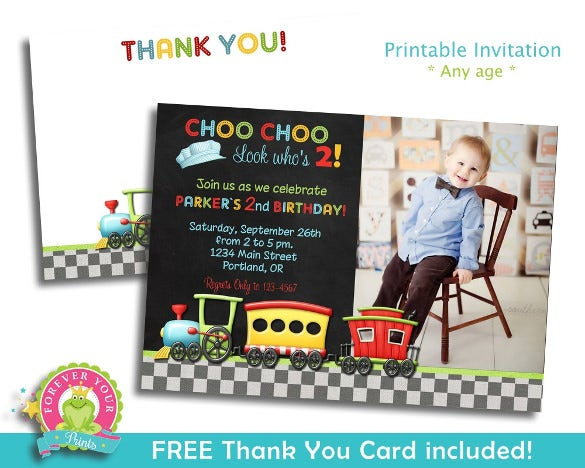 Kids birthday invitation templates 32 free psd vector eps ai train kids birthday party invitation stopboris Images