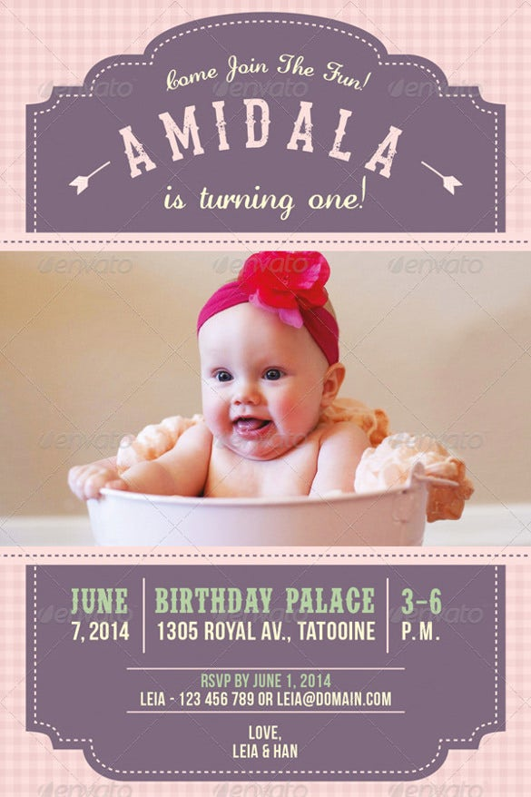 birthday party invitation for children