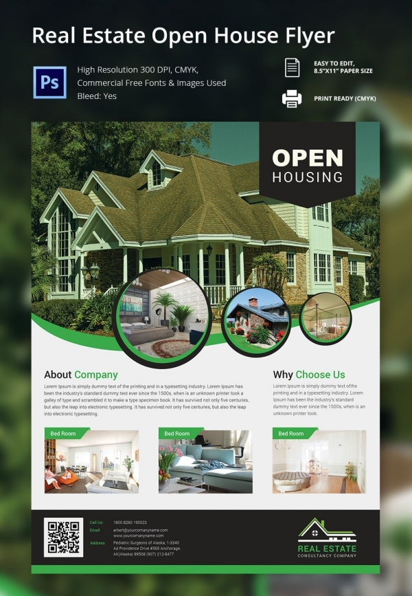 Real Estate Open House Flyer Template  BesikEightyCo