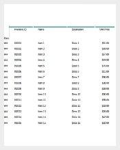 Basic Inventory Control Spreadsheet