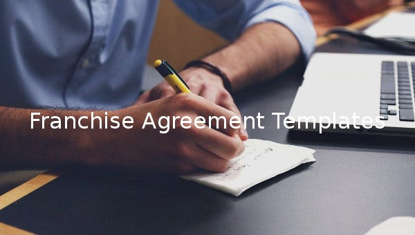 franchise agreement template  u2013 16  free word  pdf