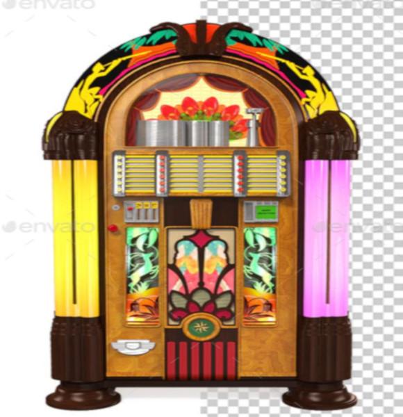 3d juke box radio