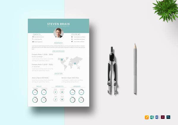 32+ MAC Resume Templates - Word, PSD, InDesign, Apple Pages ...