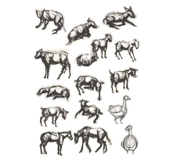 animal wildlife drawings