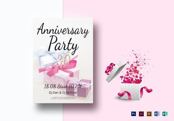 anniversary party flyer template to print
