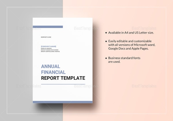 14 financial report templates doc pdf free premium templates annual financial report template cheaphphosting Images