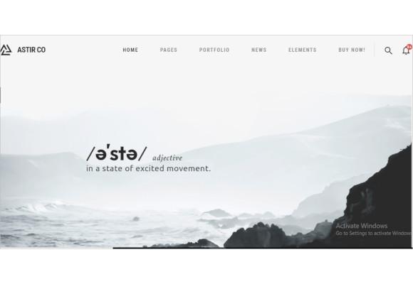 astir creative wp theme for artists