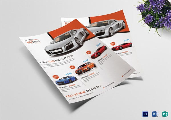 automotive car sale flyer template