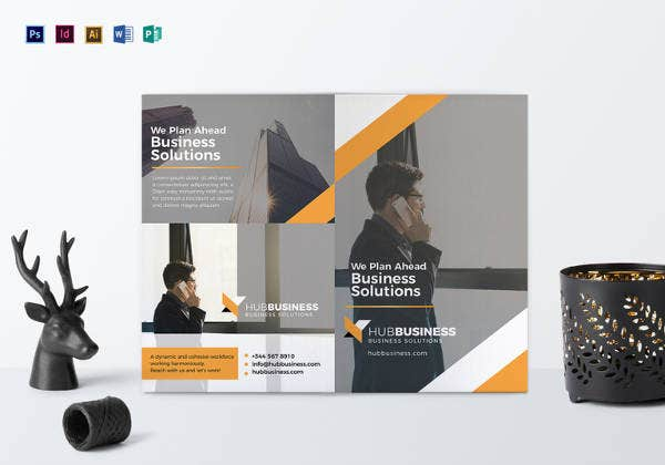 26 word bi fold brochure templates free download free premium bi fold business brochure template accmission Gallery