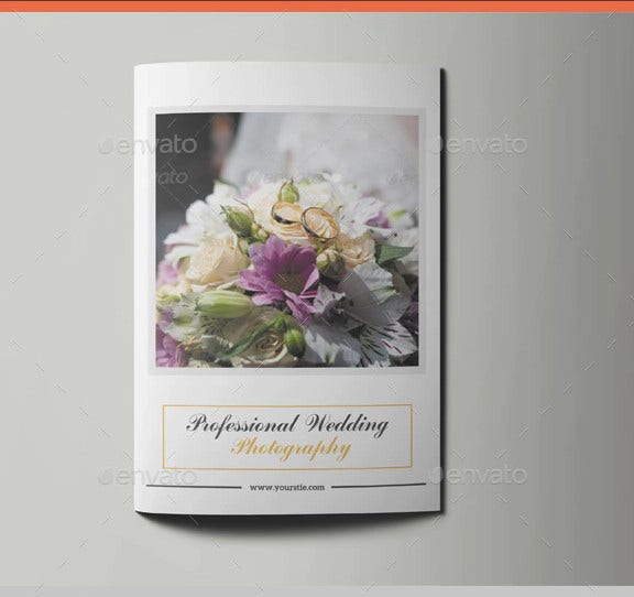 bi fold wedding portfolio brochure