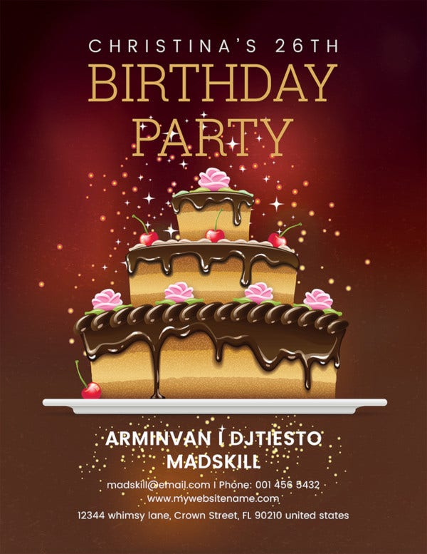 birthday party flyer template1