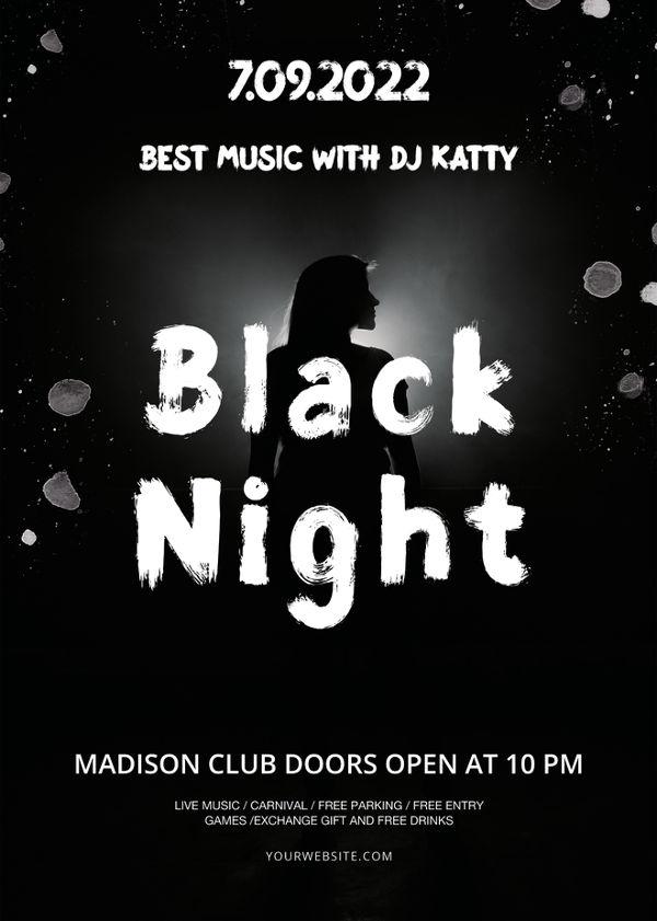Black Night Flyer Template
