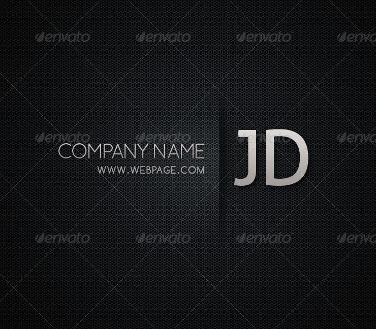blackish cool business card