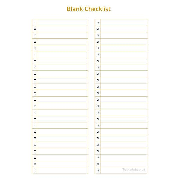 34 word checklist template examples in word free premium templates. Black Bedroom Furniture Sets. Home Design Ideas