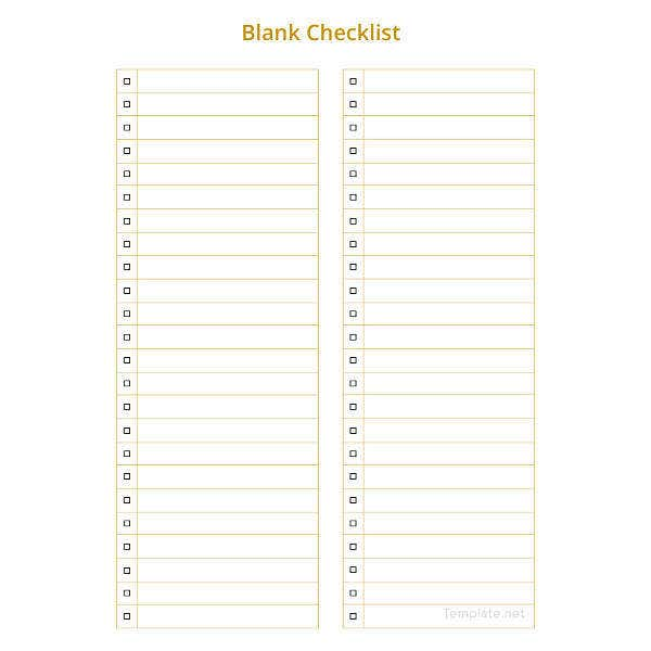 graphic about Printable Blank Checklist named 34+ Phrase Record Templates Totally free Top quality Templates