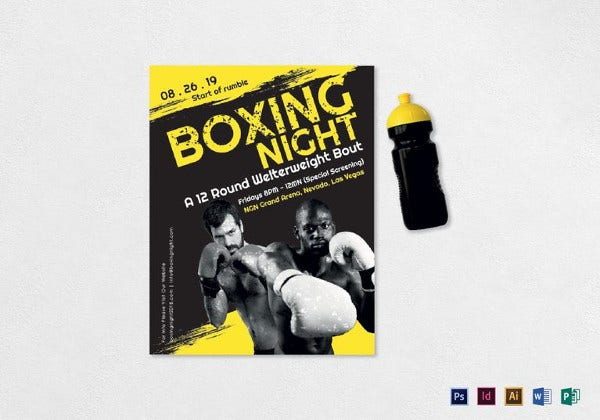 boxing-night-flyer-template