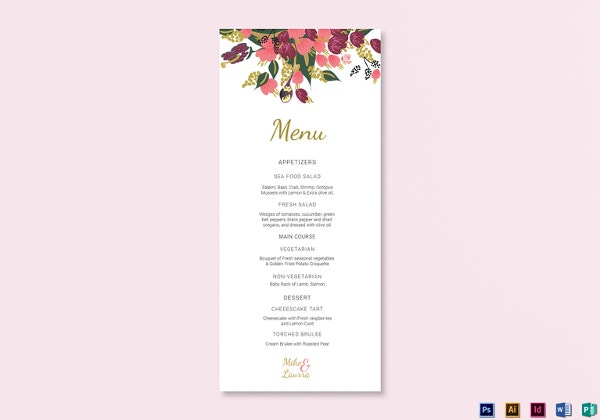 burgundy-floral-wedding-menu-card