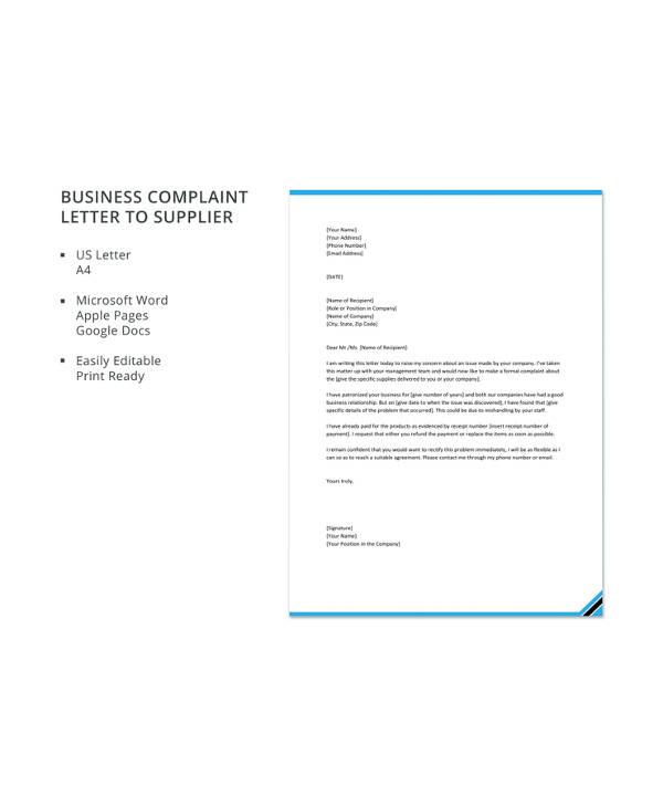 10 business complaint letter templates pdf doc free premium 10 business complaint letter templates pdf doc cheaphphosting Choice Image