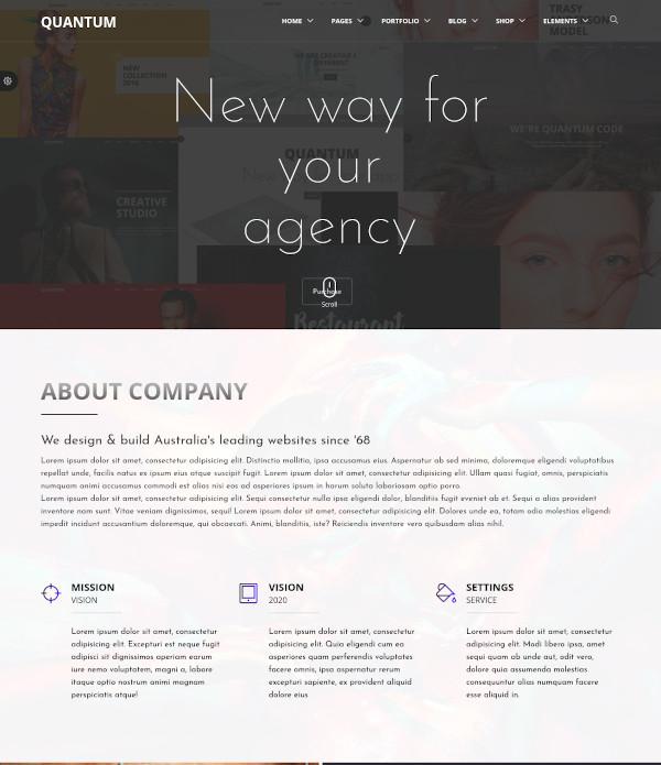 business corporate blog template