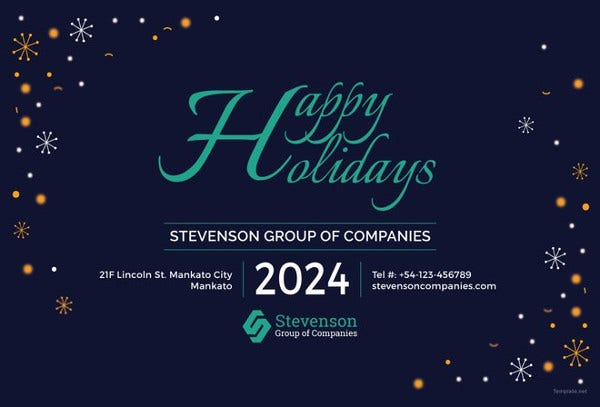 business holiday postcard template