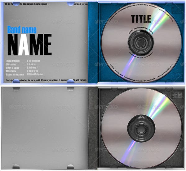 cd case and label template