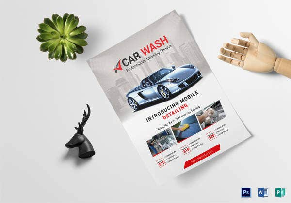 car wash business flyer in ms word template