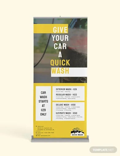 car wash roll up banner template1