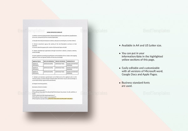 checklist-hiring-employees-template