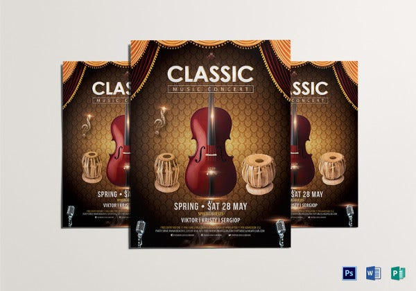 classic music concert flyer template