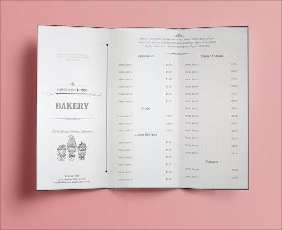 classic vintage menu design template