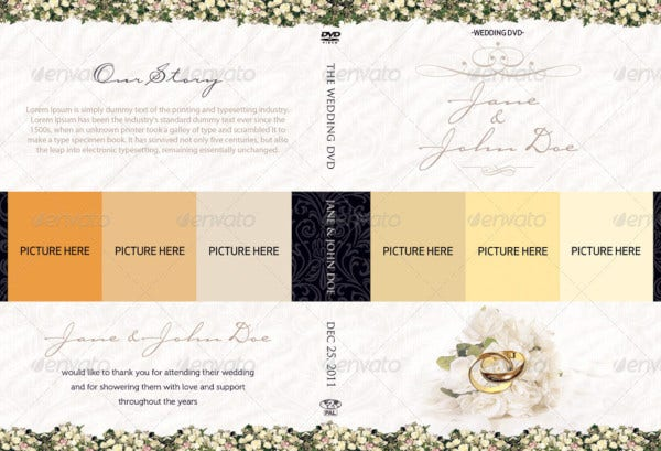 classy wedding dvd covers