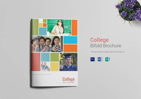 college-bi-fold-brochure-template